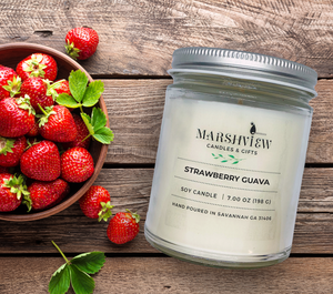 Strawberry Guava Scented Soy Wax Candle