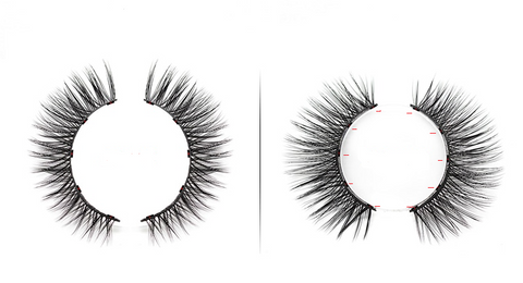 Example of the lashes design with the micro magnets all over the lash