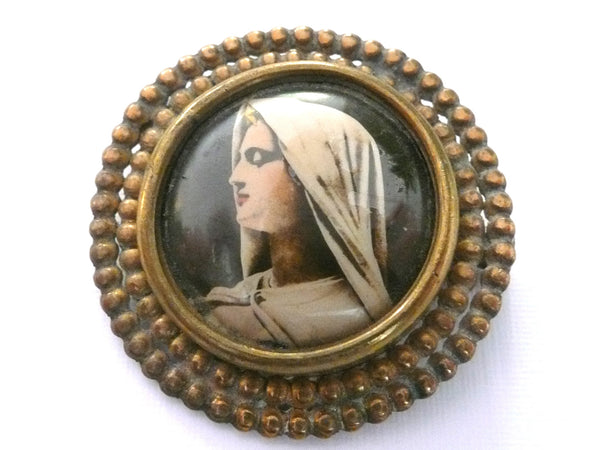 Vintage Virgin Mary Brooch