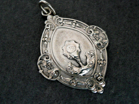 Vintage French Silver First Communion Medal