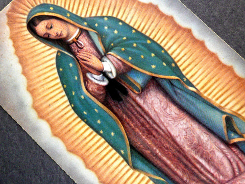 Vintage Our Lady of Guadalupe Holy Card