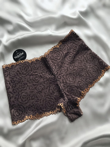 Brown Late Lace Hipster