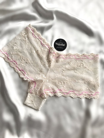 Pink Cotton Lace Hipster