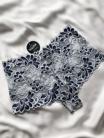 Blue Floral Lace Hipster