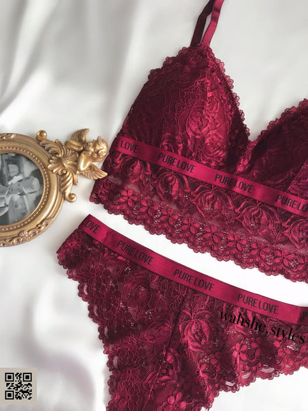 Vanessa Bralet Set Bordo