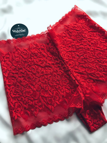Red Floral Lace Hipster