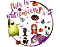 This is Halloween Circle Ready To Press Sublimation Transfer