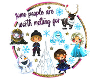 Some People Are Worth Melting For Circle Ready To Press Sublimation Transfer
