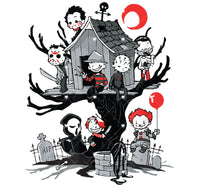 Horror Movie Treehouse Ready To Press Sublimation Transfer