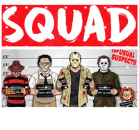 Horror Usually Suspects Squad Ready To Press Sublimation Transfer