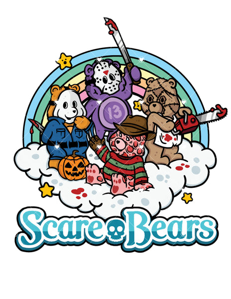 Scare Bears Ready To Press Sublimation Transfer