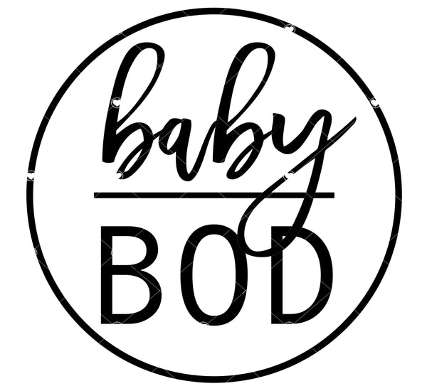 Baby Bod Ready To Press Sublimation Transfer