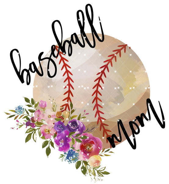 Baseball Mom Ready To Press Sublimation Transfer