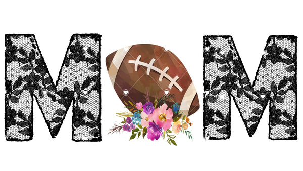 Lace Football Mom Ready To Press Sublimation Transfer