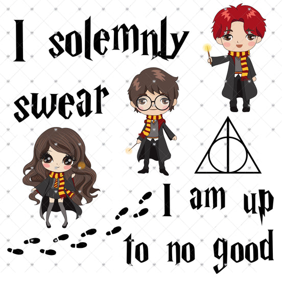 I solemnly Swear I'm up to no Good Ready To Press Sublimation Transfer