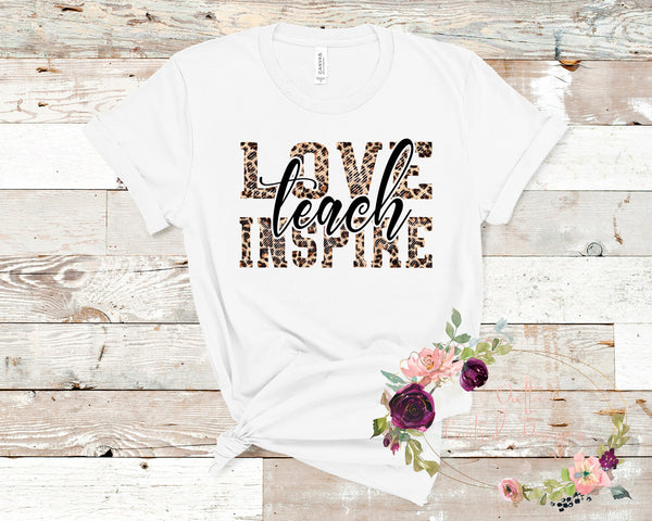 Love, Teach, Inspire Leopard