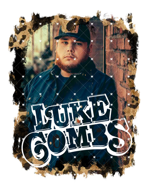 Luke Combs Ready To Press Sublimation Transfer