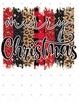Merry Christmas Ready To Press Sublimation Transfer