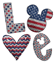 Love Mickey Patriotic Ready To Press Sublimation Transfer