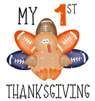 Boy my first Thanksgiving Ready To Press Sublimation Transfer