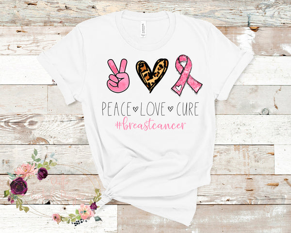 Peace Love Cure Cancer Awareness