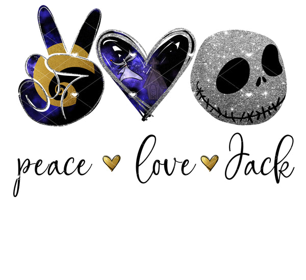 Peace Love Jack Ready To Press Sublimation Transfer