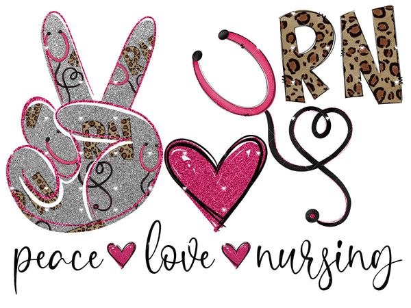 Peace Love Nursing Ready To Press Sublimation Transfer