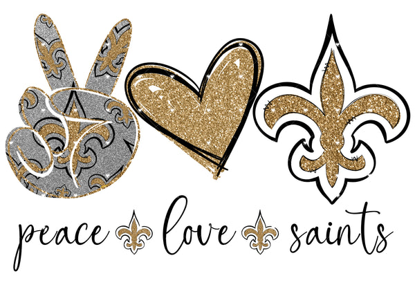 Peace Love Saints Ready To Press Sublimation Transfer