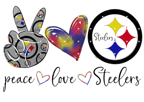 Peace Love Steelers Ready To Press Sublimation Transfer