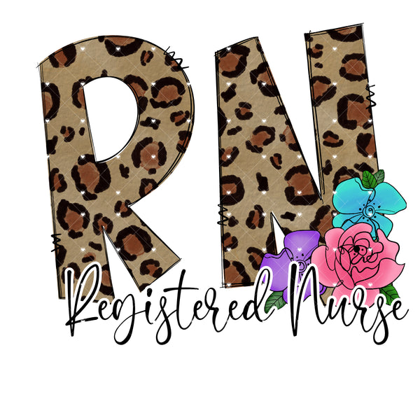 Registered Nurse leopard Ready To Press Sublimation Transfer