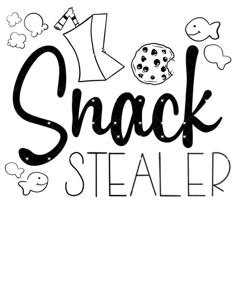 Snack Stealer Ready To Press Sublimation Transfer