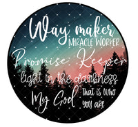 Way Maker night sky Ready To Press Sublimation Transfer