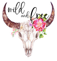 Wild and Free Ready To Press Sublimation Transfer