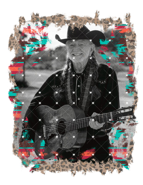 Willie Nelson Ready To Press Sublimation Transfer