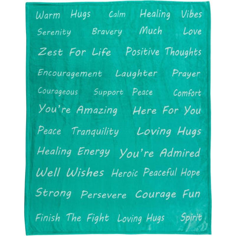 Healing Thoughts Gift Ready Throw Blankets