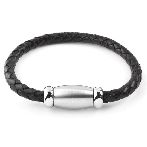 Braided Brushed Leather Bracelet