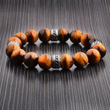 Tiger's Eye Stone Tribal Bracelet