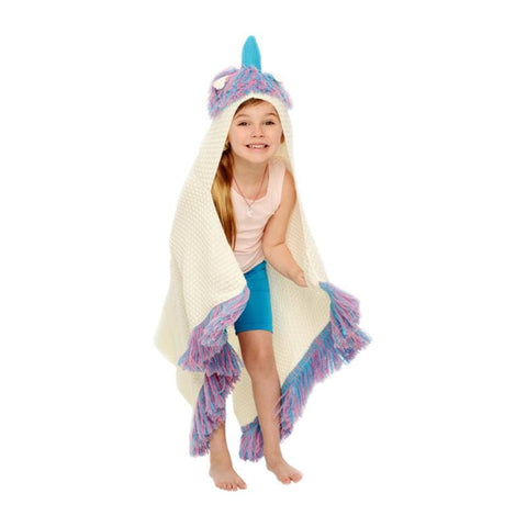 Hooded Unicorn Blanket for Kids Ages 5+