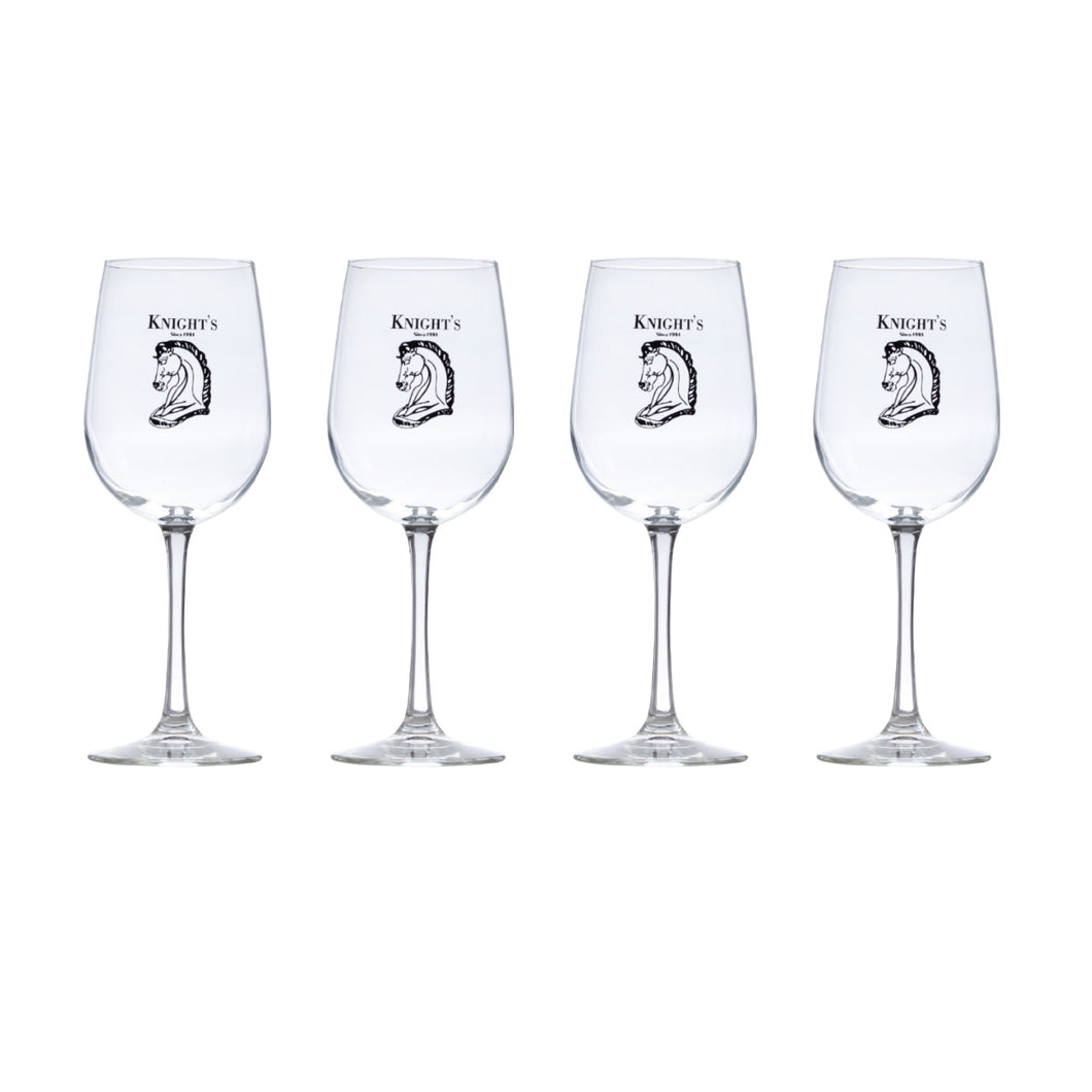 Set of 4 Knight's 16 oz. Long Stem Wine Glasses