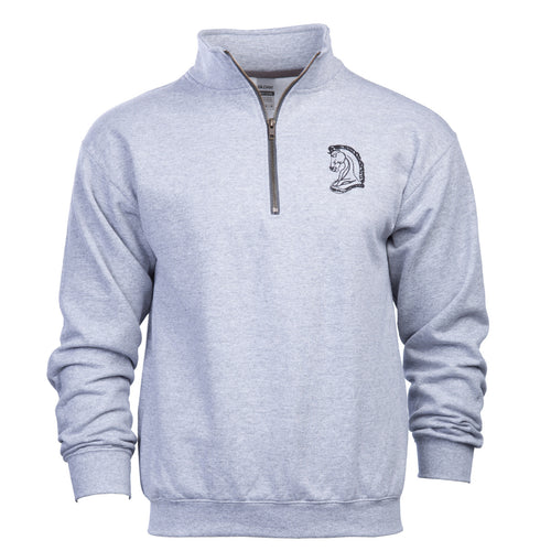Knight's Vintage Quarter Zip  Sweatshirt - Additional Colors Avail.