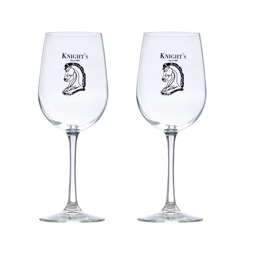 Set of 2 Knight's 16 oz. Long Stem Wine Glasses