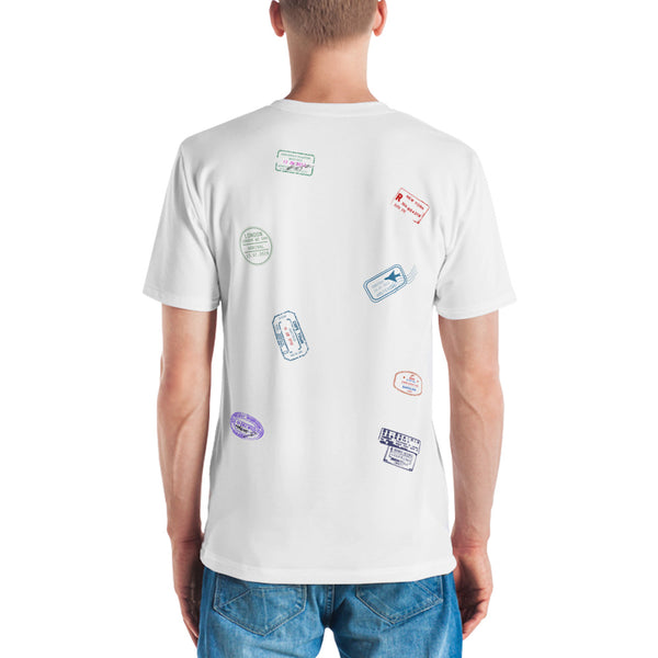 Passport Stamps T-Shirt Men