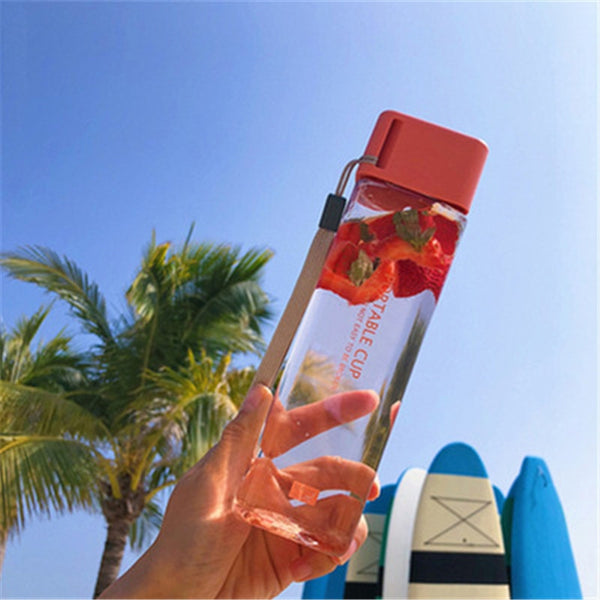 Square Portable Travel Bottle