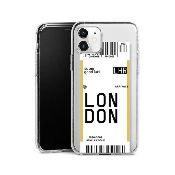 Custom Boarding Pass iPhone Case
