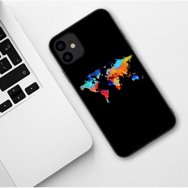 Colored World Map iPhone Case