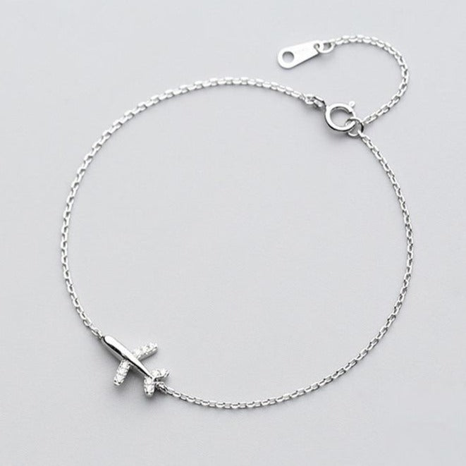 Airplane Bracelet 925 Sterling Silver
