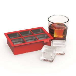 Colossal Red Silicone Ice Cube Tray