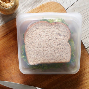 Stasher Reusable Silicone Sandwich Bag Clear