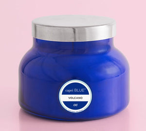 Volcano Signature Candle  Blue