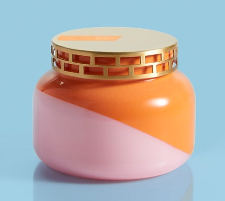 Volcano Signature Candle  Orange/pink